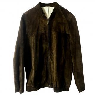 Zilli marron brown call suede jacket