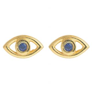 Ileana Makri 10ct Gold & Sapphire Eye Earrings
