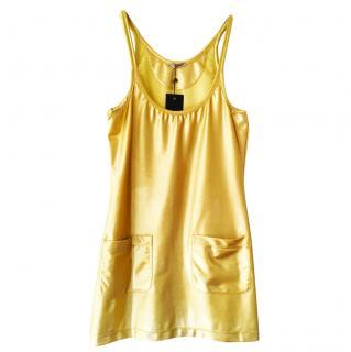 Tomas Maier mini golden dress