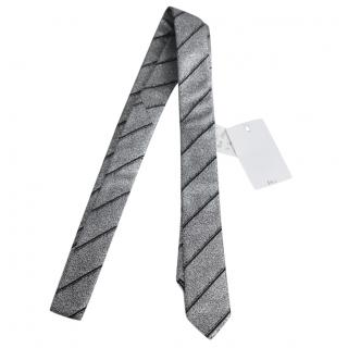Dior Homme Hedi Slimane SS06 Silver Lurex Skinny Tie