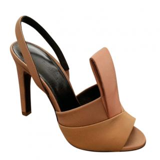 c4a76fd37c5b Hermes Satin Pleated Sandals