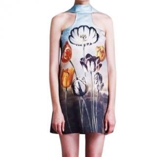 Stella McCartney Silk Runway Tulip Print Halterneck Dress
