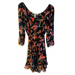 Diane Von Furstenberg Silk Dress Chiffon Dress