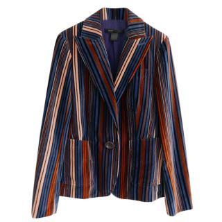 Marc By Marc Jacobs Jewel Tone Striped Velvet Jacket