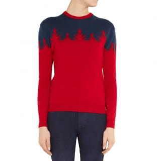 Preen For Net-A-Porter Merino Wool Intarsia Christmas Tree Jumper