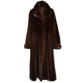 Saga Sable Brown Mink Fur Coat