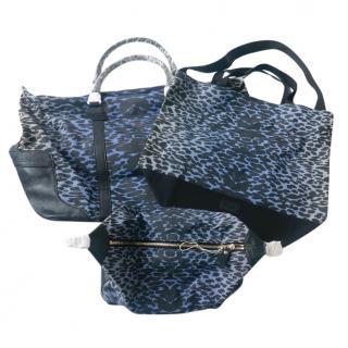 Temperley 3 Part Degrade Leopard Luggage Travel Bag Set New