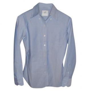 Brooke brokers pale-blue slim-fit shirt