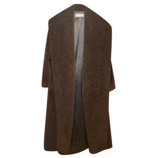 Max Mara tie-waist alpaca teddy coat
