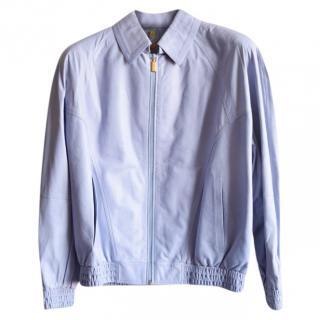 Zilli men's blue calf leather jacket