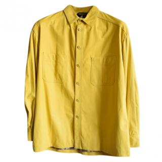 Zilli men's yellow calf leather jacket