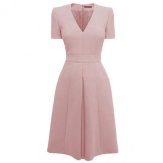 Alexander McQueen Dusty Pink Box Pleat Dress