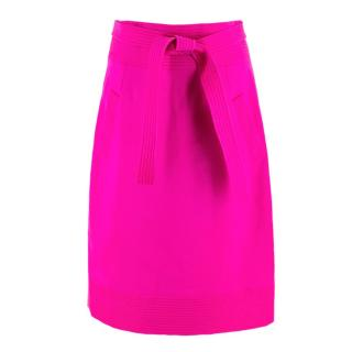 Oscar de la Renta Bright Pink Pencil Skirt