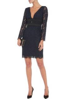 Diane Von Furstenberg crochet-paneled 'viera' lace dress