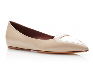 Tabitha Simmons point-toe leather flat shoes