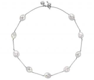 Dower & Hall Baroque Pearl Chain Necklace