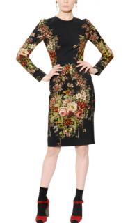 Dolce & Gabbana Floral Printed Cady Midi Dress