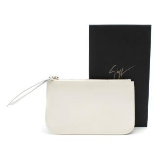 Giuseppe Zanotti Keri white leather pouch