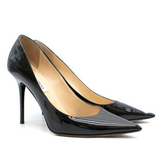 Jimmy Choo Black Patent Romy 85 Pumps