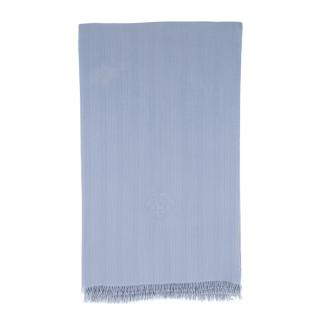 Hermes Blue Cashmere and Silk Stole