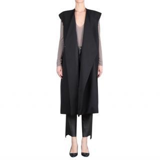 Vetements Raw-Edge Sleeveless Wool Coat