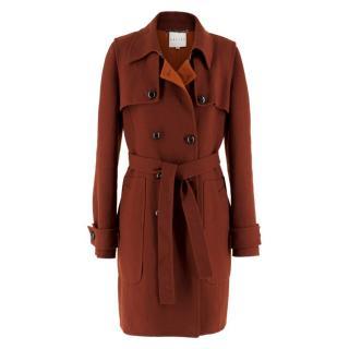 Celine Burgundy Wool Coat
