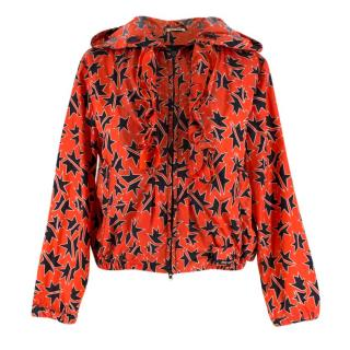 Miu Miu Red Star Print Rain Jacket