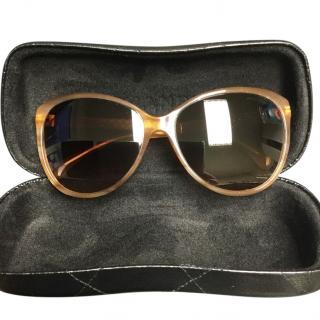 Chanel cat-eye oversized sunglasses