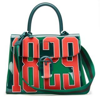 Delvaux Hero Brilliant MM 1829 Green Tinted Vinyl Bag