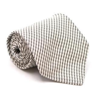 Gianfranco Ferre White Knit Silk Tie