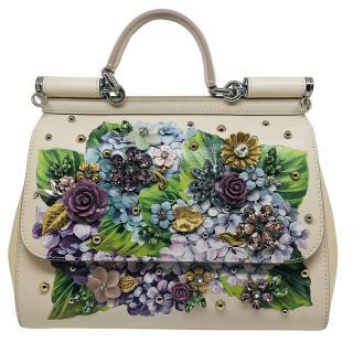 Dolce & Gabbana Floral Crystal Embellished Sicily Bag