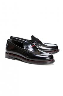 Burberry Leather Penny-Strap Loafers
