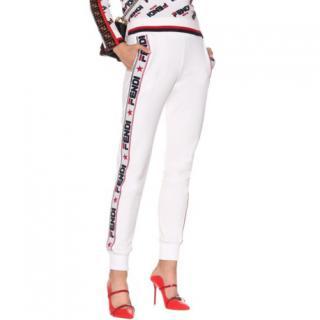 Fendi Mania Limited Edition Fila White Joggers