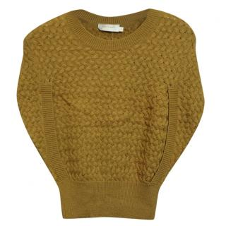 Zimmermann Cable-Knit Batwing-Sleeved Wool Sweater