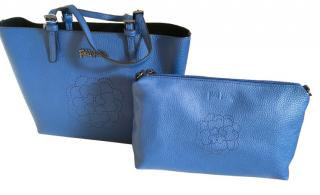 Folli Follie blue tote bag w/ pouch