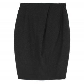 Jil Sander Wool-blend Charcoal Pencil Skirt