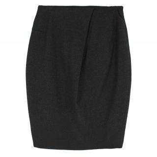 Jil Sander Wool-blend Charcoal Pencil Skirt