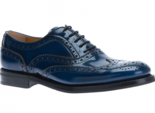 Church's Blue Burwood Lace-up Brogues