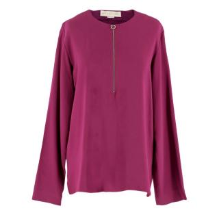 Stella McCartney Purple Zip Front Top