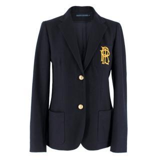 Ralph Lauren Navy Wool Blazer