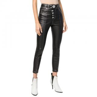 Alexander Wang high-rise coated-cotton skinny trousers