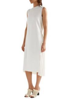 Adam Lippes Merino Wool Pleated-Back Maxi Dress