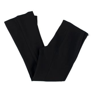 The Row Black Flared Trousers