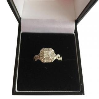 Vera Wang 'Love' collection princess-cut diamond halo ring