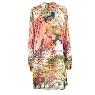 Mary Katrantzou Silk Floral Dress