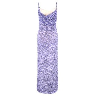 Missoni Purple Knit Sequin Gown