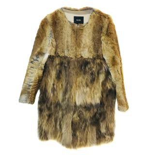 Maje Rabbit And Raccon Fur Coat
