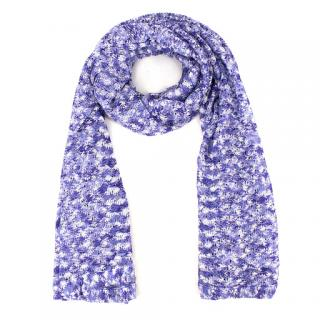 Missoni Fine-Knit Purple Scarf