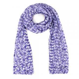 Missoni Fine-Knit Purple Scarf