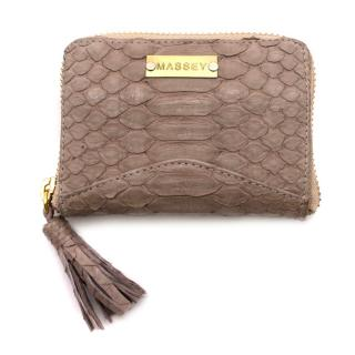Massey Grey Python Purse